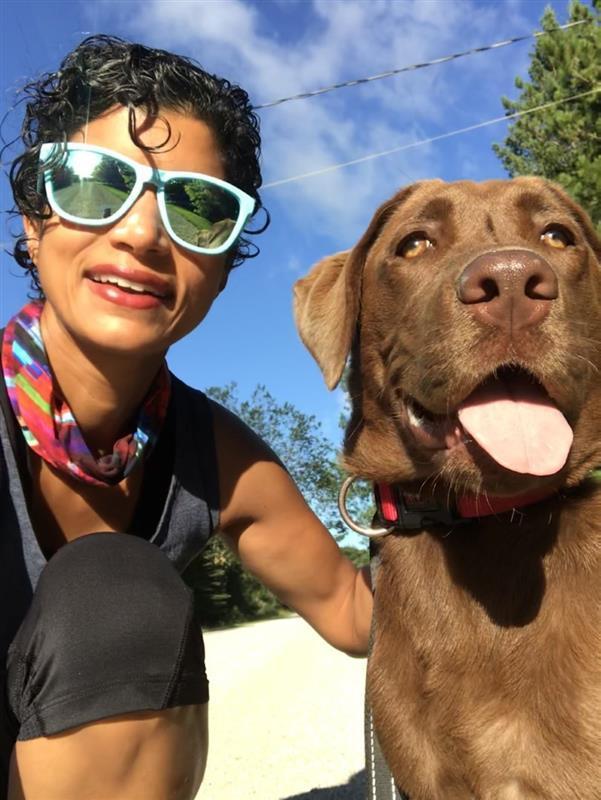 Anisa and her dog