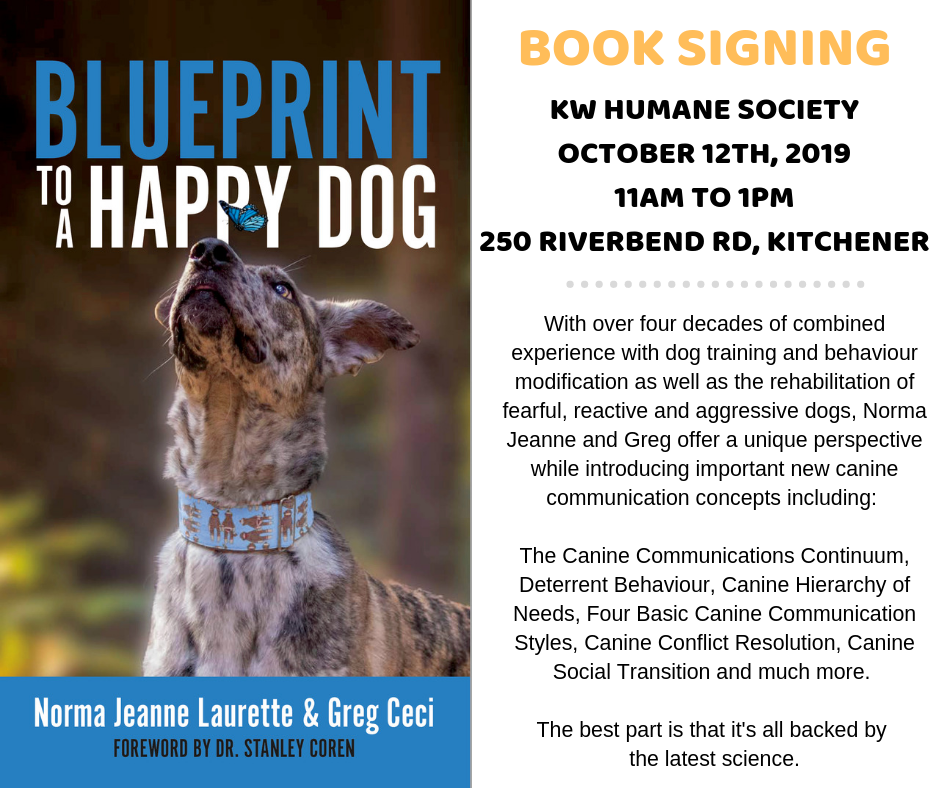 Blueprint To A Happy Dog - Book Signing with Norma Jeanne